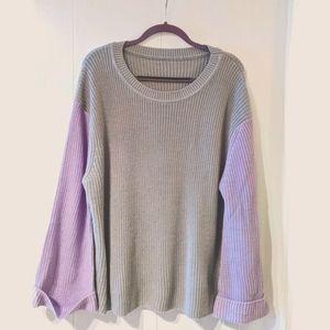 Grey & purple Shein Curve sweater